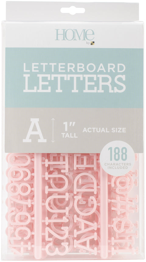 "DCWV Letterboard Letters & Characters 1"" 188/Pkg-Pink"