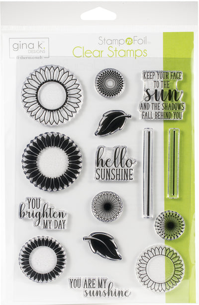 Gina K Designs Clear Stamps-Graphic Sunflowers