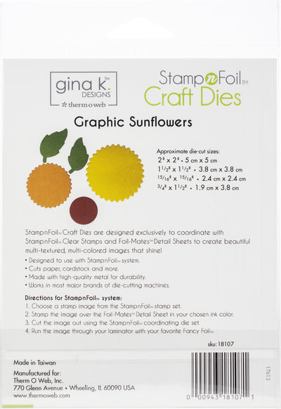 Gina K Designs Die Set-Graphic Sunflowers