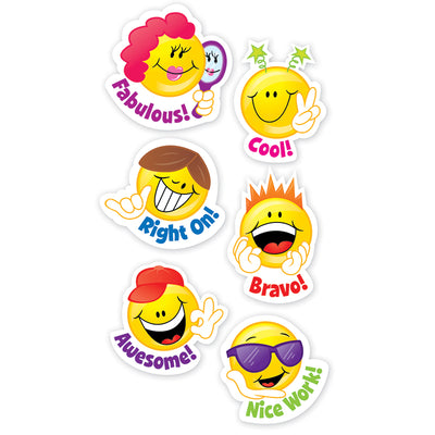 (10 PK) SMILEY FACES STICKERS 60