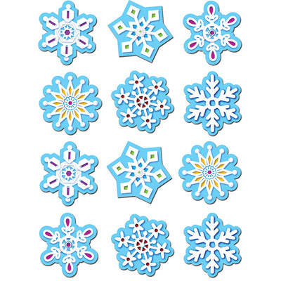 (10 PK) SNOWFLAKES STICKERS