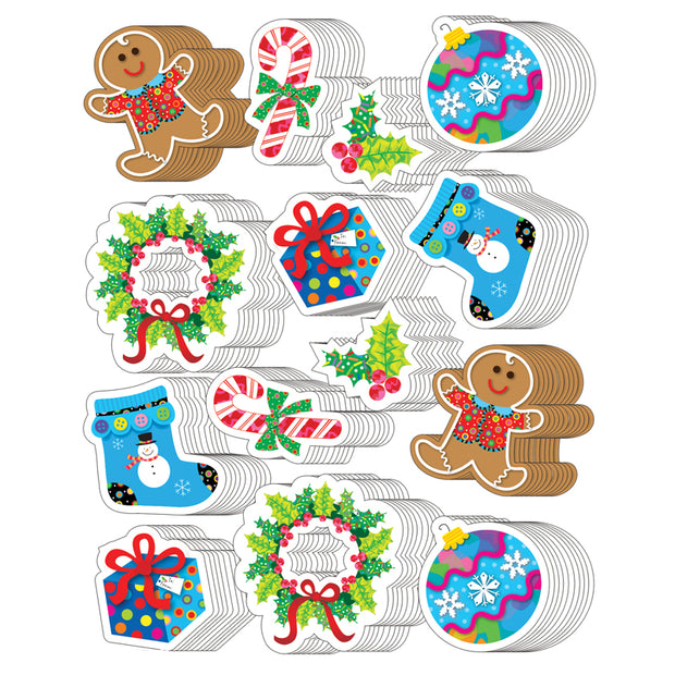 (10 PK) WINTER HOLIDAY STICKERS