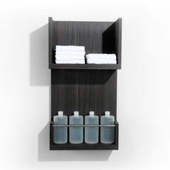 Double your back bar function with Over Under dispense and towel shelf. Shown in Moon Macassar.