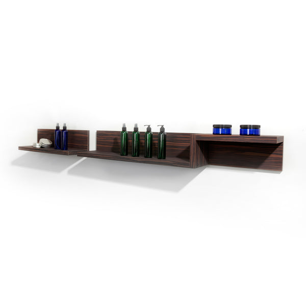 Start small and grow your merchandising and display areas.  Shelves are laminate clad & wood construction.