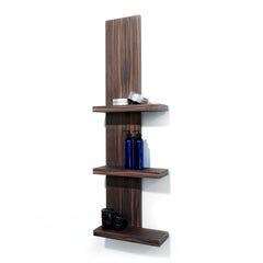 Sell retail product from the stylist station with this wall mounted product shelf. Use for merchandising and display areas of your salon.