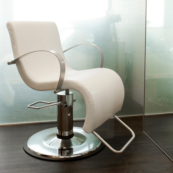 The elegant curves of SST are formed with a one piece hardwood ply seat and back with high resilient cushion and synthetic leather cover. Arm rests and foot rest are fabricated in steel then chrome plated.
