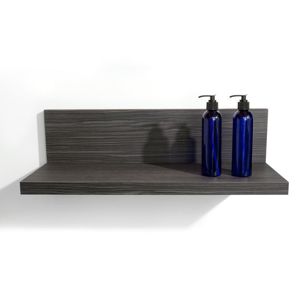 Shelf extension for your retail and merchandising areas of your salon.  Shown in Moon Macassar.