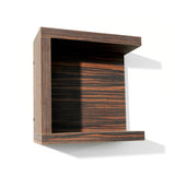 Strata retail shelf shown in Jurassic Ebony finish.