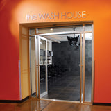 the Wash House sign.  Shown in brushed metal finish with 7 inch letter height.