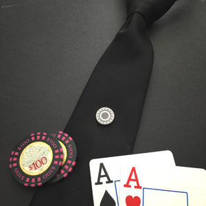 """All In"" Magnetic Tie Clip / Pin"