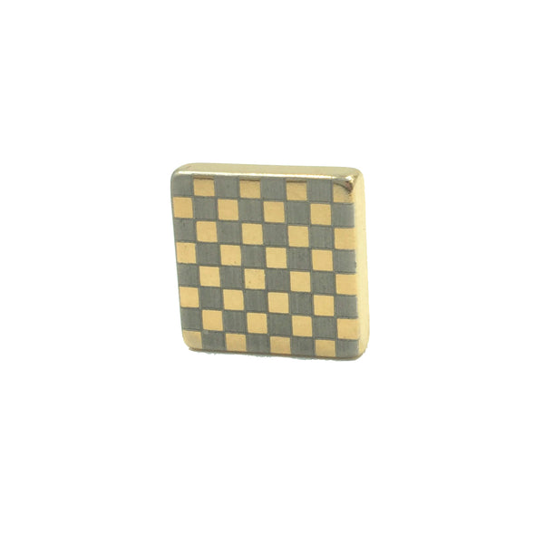 """Checkmate"" Gold Magnetic Tie Clip / Pin"