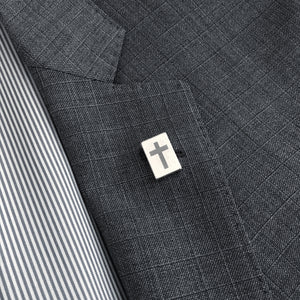 """The Cross"" Magnetic Tie Clip/Pin"