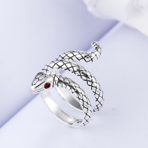 100% 925 Sterling Silver Trendy Snake Rings