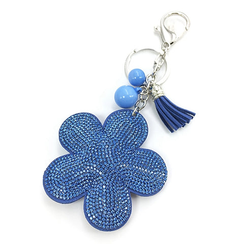 Image of Chain Pompom Holder New Plum Flower Pendant Leather