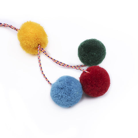 Image of Bohemian Style DIY Hand woven Long Tassel Keychain Colorful