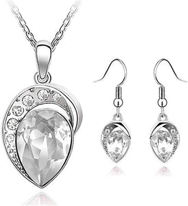 Fashion Accessories Wedding Jewelery Sets for Women Silver Color