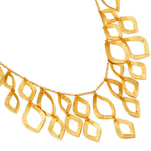 18K Gold Plated Brass Necklace Wedding Designer