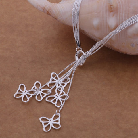 Image of 925 sterling silver Necklace butterflies