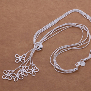 925 sterling silver Necklace butterflies