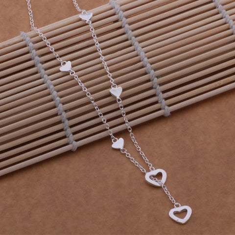 Image of 925 sterling silver Necklace Hearts