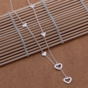 925 sterling silver Necklace Hearts