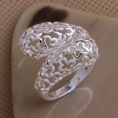 Image of 925 sterling silver ring, butterflies, adjustable