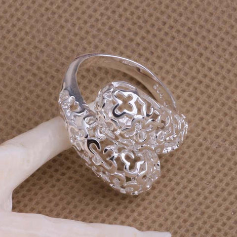 925 sterling silver ring, butterflies, adjustable
