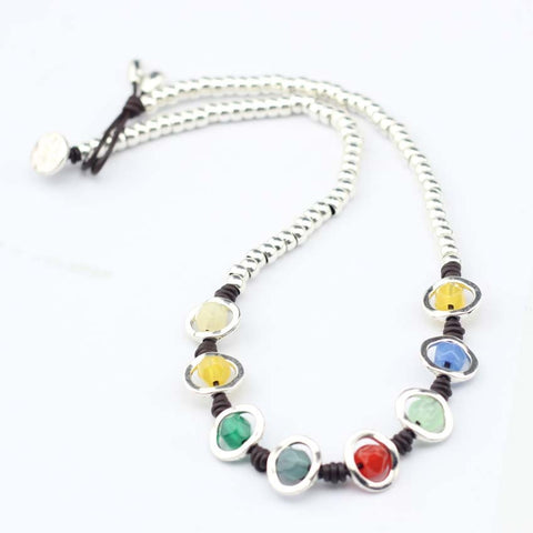 Image of Anslow Rainbow Handmade Beads Choker Necklace