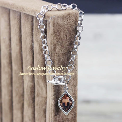 Image of Anslow Jewelry Brand New Design Rhombus Charms Chain Bracelets
