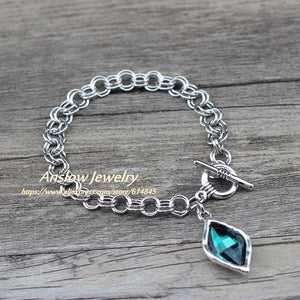 Anslow Jewelry Brand New Design Rhombus Charms Chain Bracelets