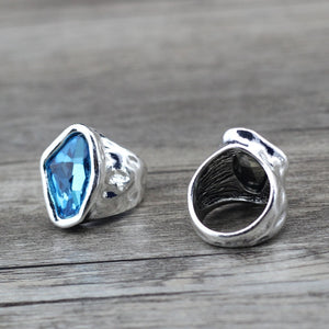 y Vintage Irregular Crystal Couples Love Rings For Women
