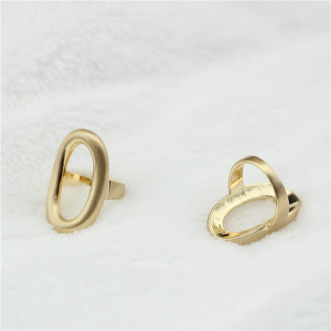 Image of Anslow Unique Design Jewelry Brass Gold plated Oval Ring