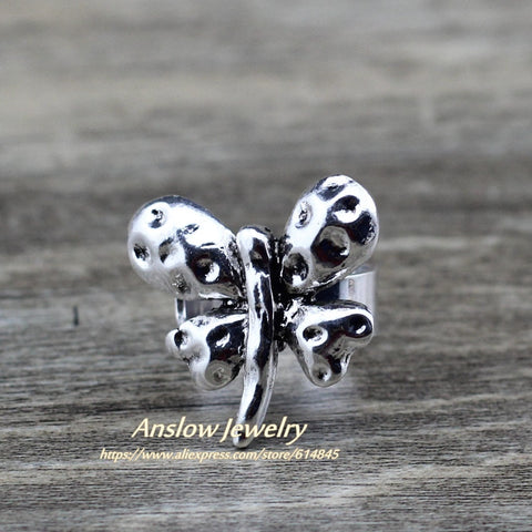 Anslow Vintage Butterfly Adjustable Ring