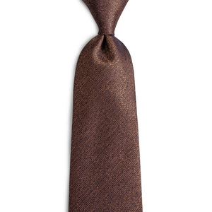 BarryWang 8cm Fashion Brown Solid Tie Classic Necktie Coffee Neck Tie 100% Silk Ties