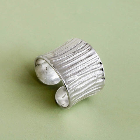 Bohemian Vintage 925 Sterling Silver Large Ring