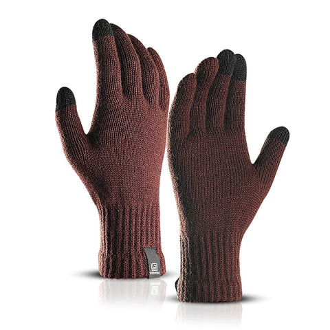 Image of Brand New Delicate Knit Gloves Men Women Winter Touch Screen Simple Solid Color