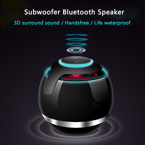 Image of LED Mini Wireless Bluetooth Speaker TF USB Portable Music Hand free call