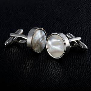 Drop Shipping VAGULA Sea Shell Cufflinks Collar Studs 8pcs set AAA Quality tuxedo Cuff Links Men Jewelry 533