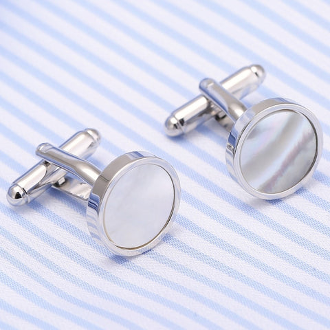 Image of Drop Shipping VAGULA Sea Shell Cufflinks Collar Studs 8pcs set AAA Quality tuxedo Cuff Links Men Jewelry 533