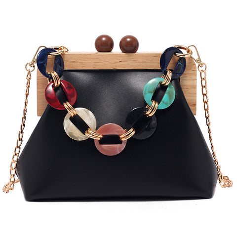 Elegant Female Tote Shell High Quality PU Leather Messenger Bag