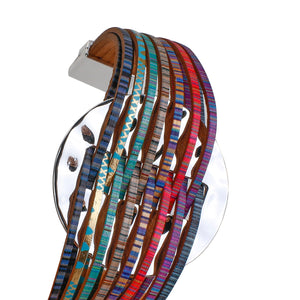 Fashion Leather Bracelets For Women 2020 Simple Multicolor Alloy Multilayer Magnet Charm Wrap Bangles