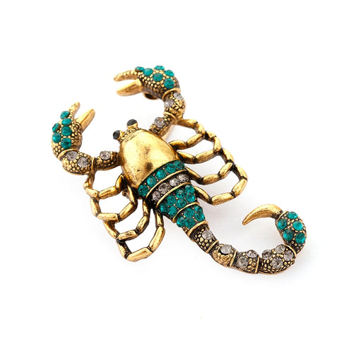 Image of Rhinestone Scorpion Brooch For Women Alloy Jewelry Crystal Insect Brooches