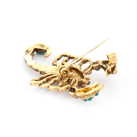 Rhinestone Scorpion Brooch For Women Alloy Jewelry Crystal Insect Brooches