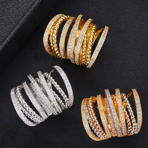 GODKI Monaco Design Luxury Twist Stacks Stackable Ring