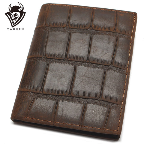 Image of High Quality 100% Genuine Leather Wallet Crocodile Style Crazy Horse Leather Wallet