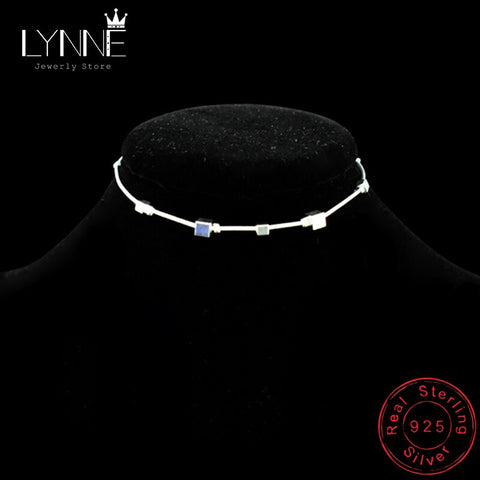 Image of Hot Sale Beach Anklet 925 Sterling Silver Ladies Square Pendant