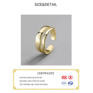 Irregular Sterling Silver 925 Ring