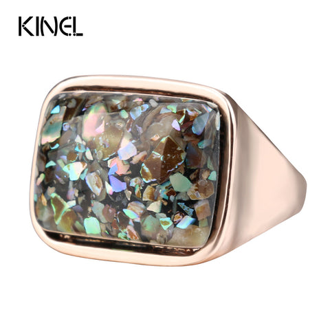 Kinel Luxury Women's Ring Stylish Simplicity Vintage Jewelry Rose Gold
