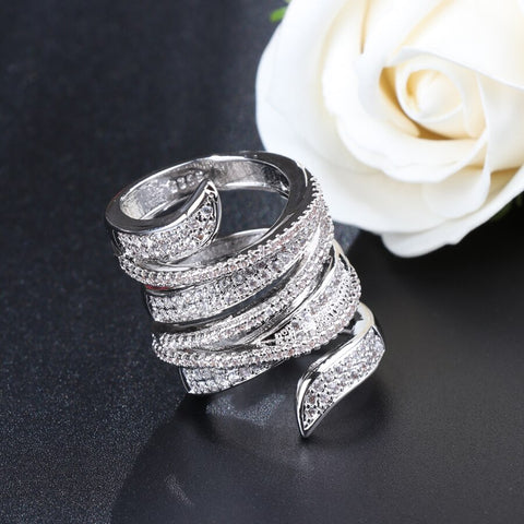 Kinel Newest Design Ring Silver Color Bohemia Big Ring