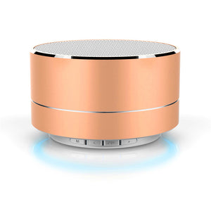 Mini Modern Aluminum Alloy LED Light Wireless Bluetooth Speaker Calls Handsfree